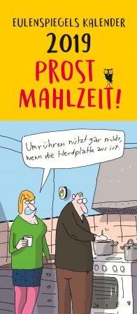 Eulenspiegels Postkartenkalender 2019 Prost Mahlzeit